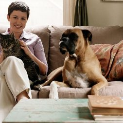 cats and dogs at home