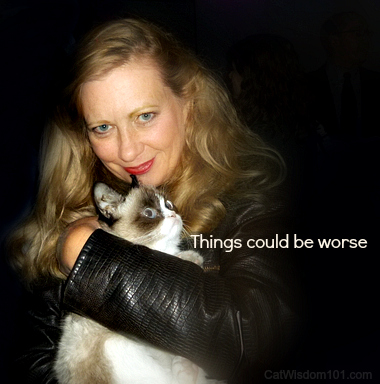 Layla Morgan Wilde with Grumpy Cat