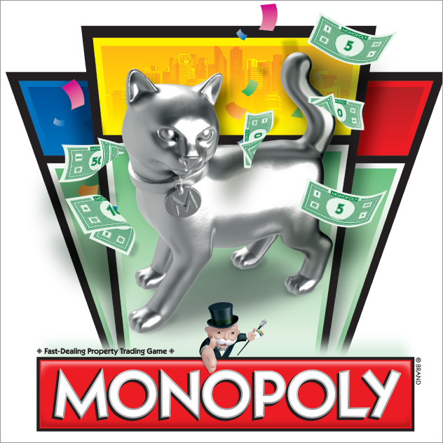 Cat token with Monopoly graphic