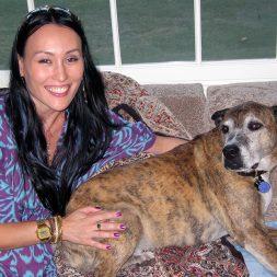 Malea and her beloved adopted dog Oscar.