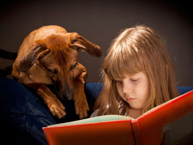 Shelter pets help kids read