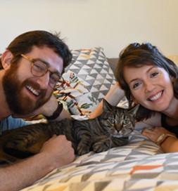 Animal enjoys time with Gary and Sara.